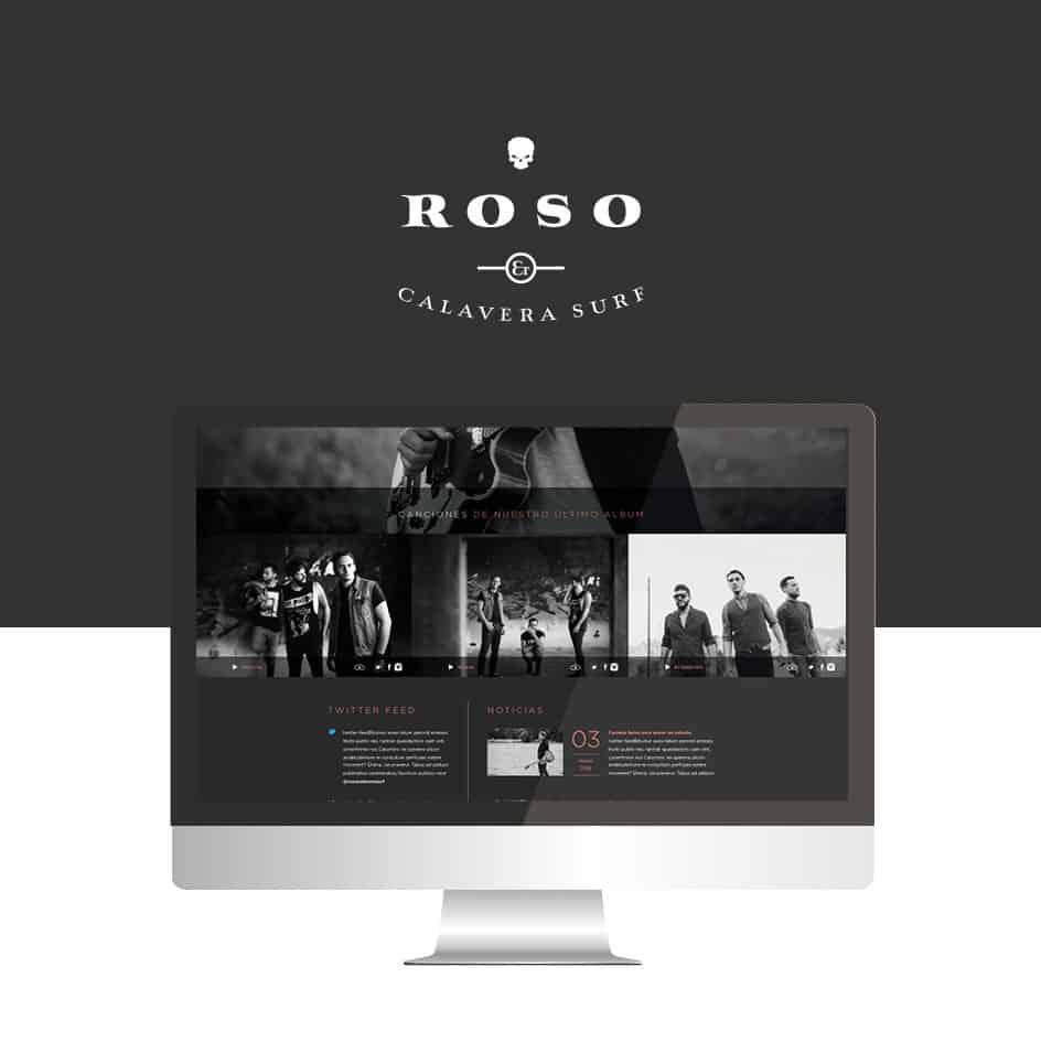 Roso y Calavera Surf Web UX