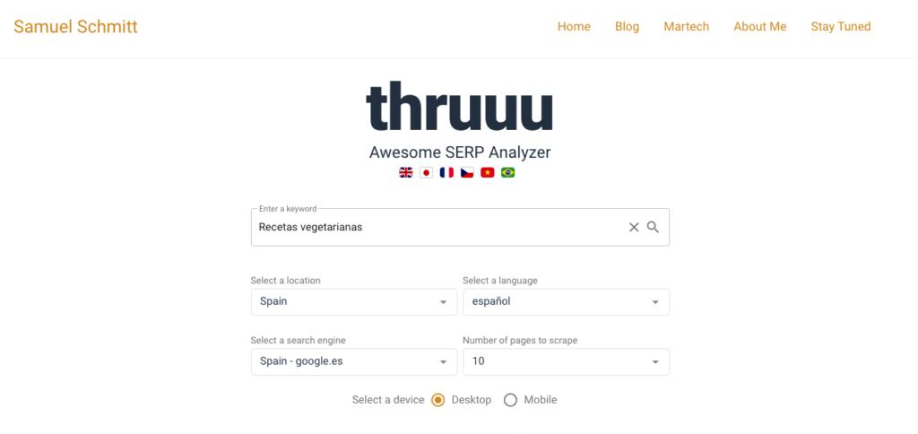 Thruuu, la mejor herramienta para la intención de búsqueda
